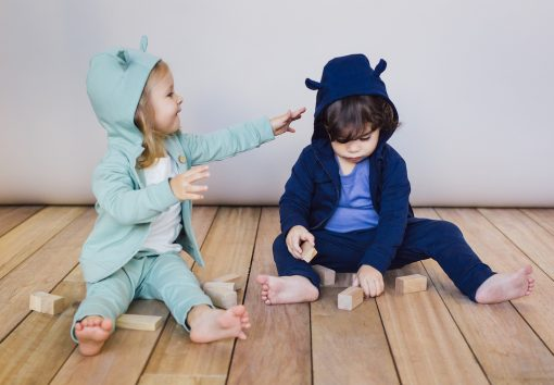 Bluzy z uszami i spodenki niemowlęce