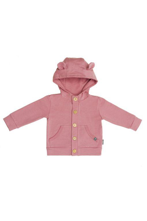 Bluza na guziki różowa