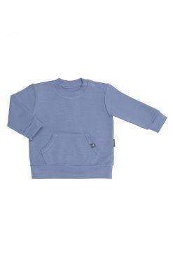 Bluza kangurek niebieska