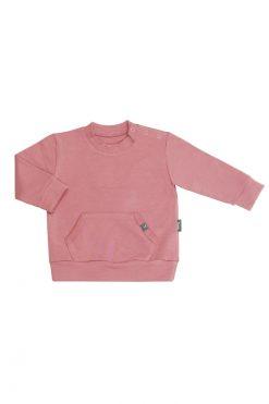 Bluza kangurek różowa