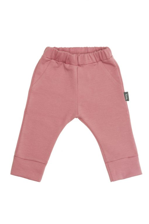 Spodnie z gumką różowe
