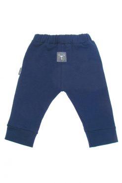 Spodnie z gumką granatowe