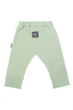 Spodnie z gumką zielone