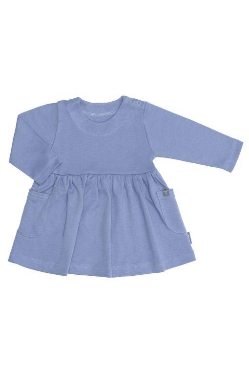 Sukienka z długim rękawem niebieska