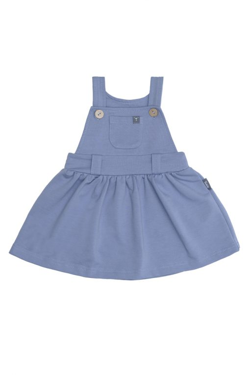 Sukienka ogrodniczka niebieska