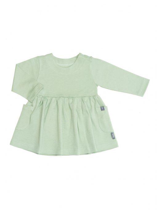 Sukienka z długim rękawem zielona