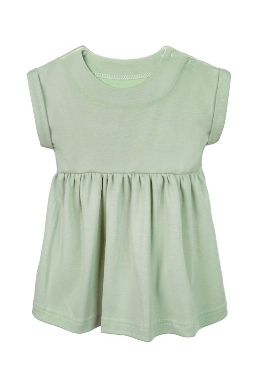 Sukienka krótki rękaw zielona