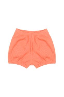 Bloomersy - krótkie spodenki niemowlęce na lato - pomaranczowe