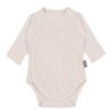 Body kopertowe dla niemowląt z prążkowanej bawełny organicznej - piaskowe