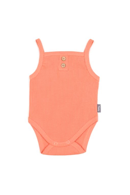 Body na ramiączkach niemowlęce - prążkowane - pomarańczowe