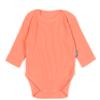 Body niemowlęce z długim rękawem prążkowane - pomarańczowe