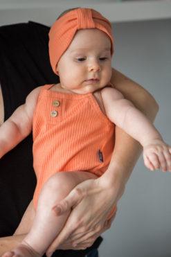 Body na ramiączkach dla niemowląt pomarańczowe