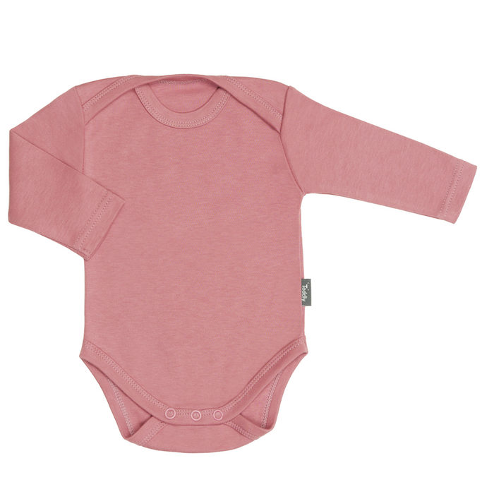 Body niemowlęce z długim rękawem różowe