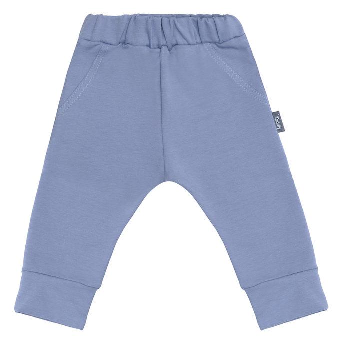 Spodnie z gumką niebieskie