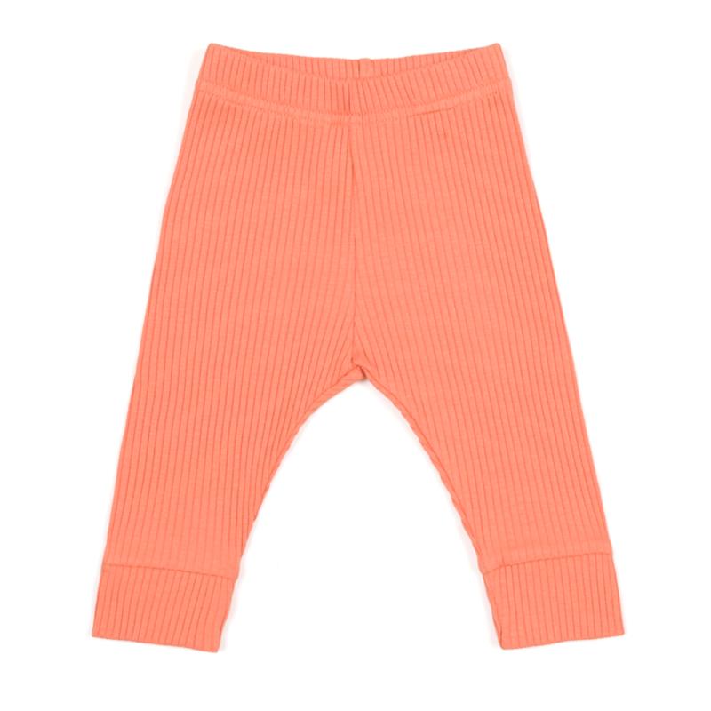 legginsy pomarańczowe w prążki